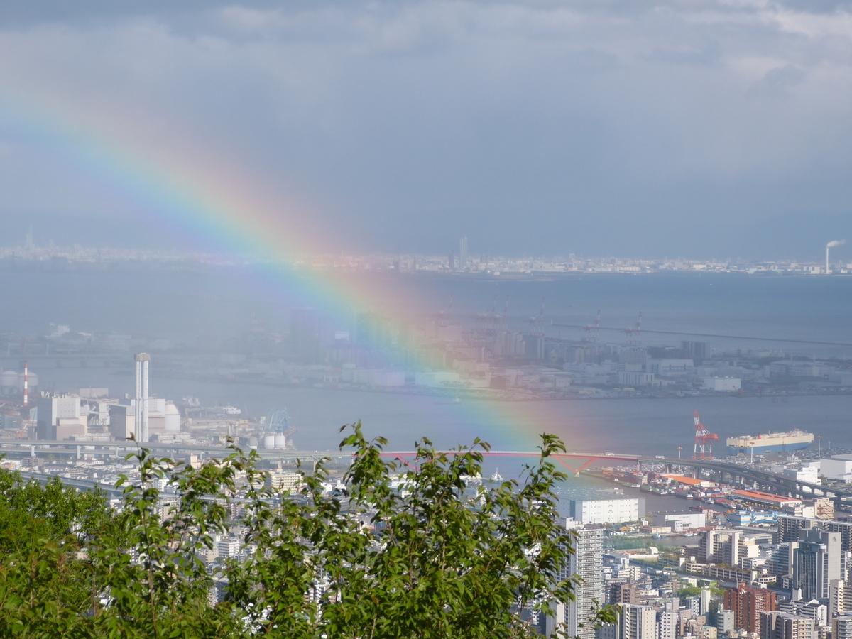神戸布引ハーブ園の虹