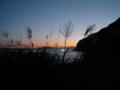 立待岬からススキと夕焼け