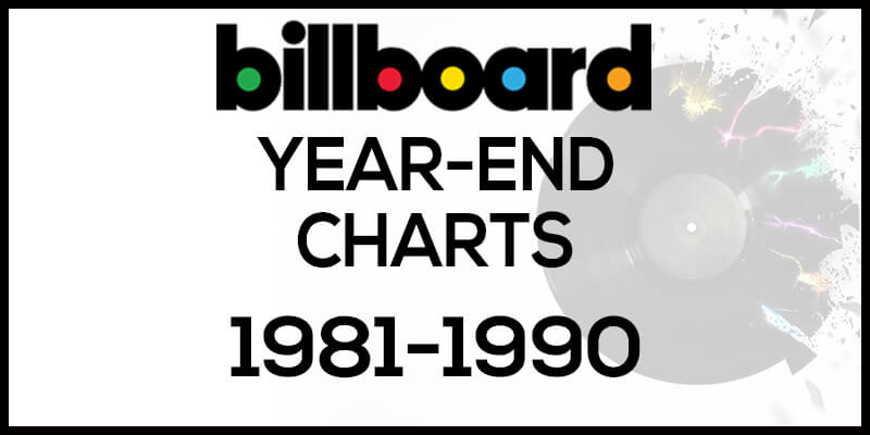 洋楽ビルボード年間ランキング【1981年~1990年】全米チャートトップ10総まとめ
