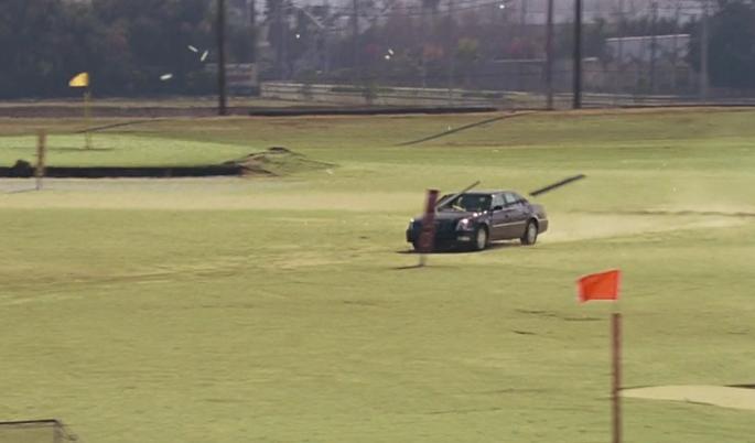 映画「ゲットスマート」にてゴルフ場で爆走するシーン