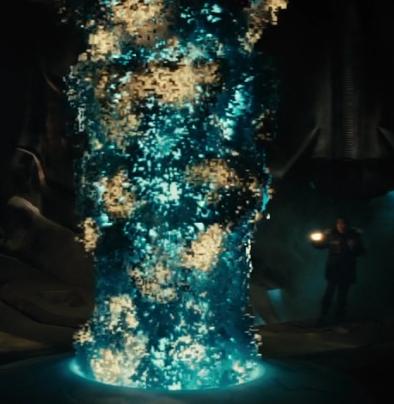 映画「遊星からの物体X ファーストコンタクト」にて、巨大宇宙船内部