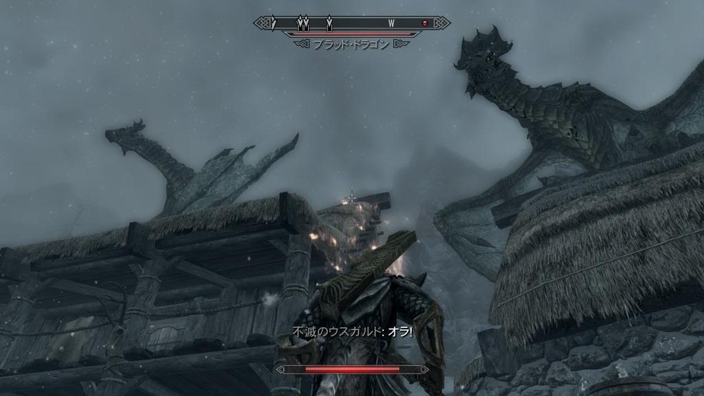 【スカイリム】2体のドラゴン