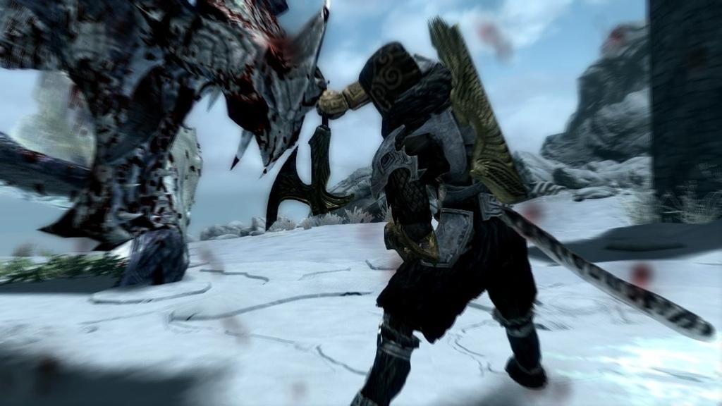【スカイリム】片手斧でドラゴンを討伐2