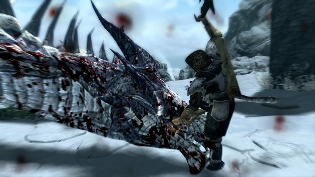 【スカイリム】片手斧でドラゴンを討伐