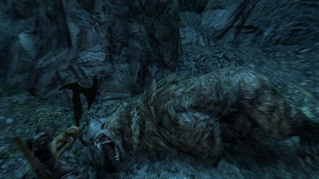 【スカイリム】戦闘中の熊