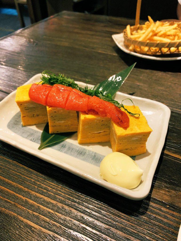 居酒屋「塚田農場」で食べた明太卵焼き