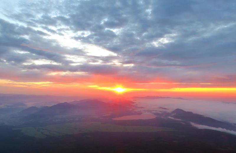 初の富士山ご来光