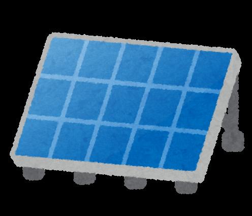 ソーラーパネルのイラスト