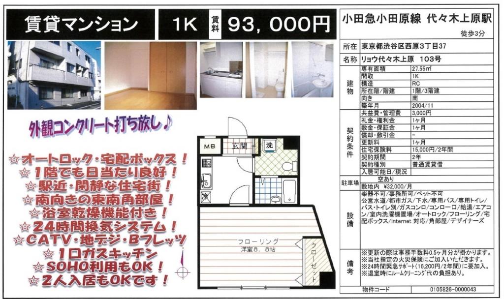 f:id:yoyogiuehararealestate:20160917100454j:plain