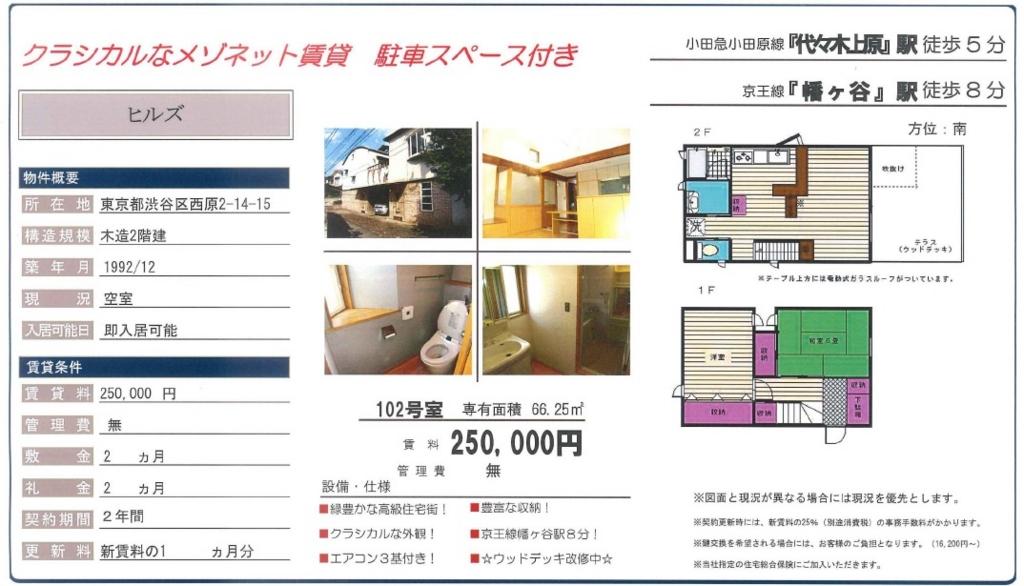 f:id:yoyogiuehararealestate:20160920195657j:plain