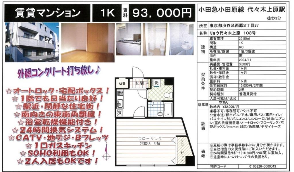 f:id:yoyogiuehararealestate:20161001230003j:plain
