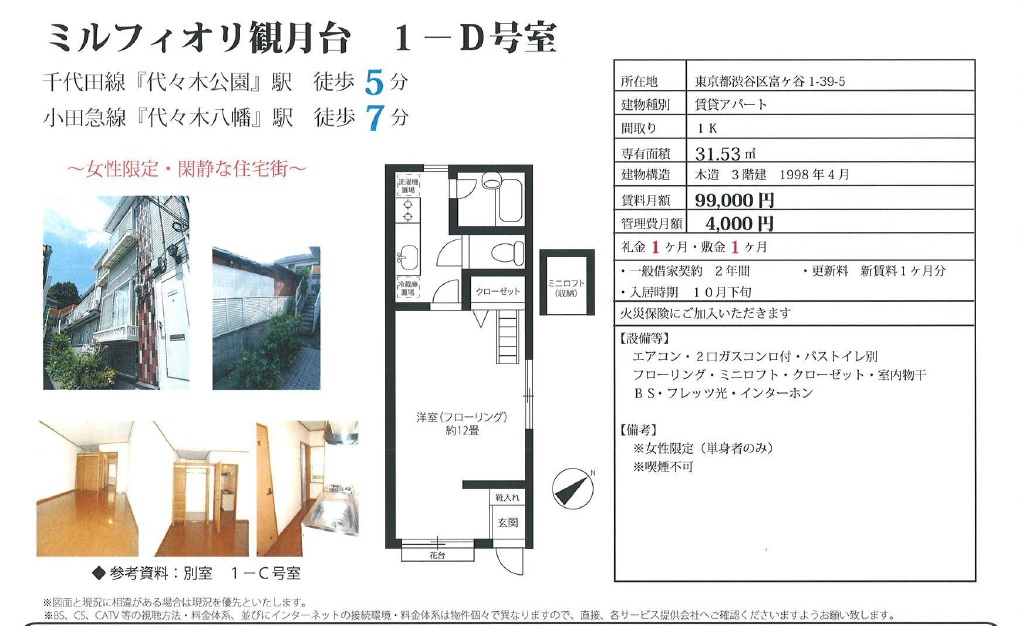 f:id:yoyogiuehararealestate:20161005204014j:plain