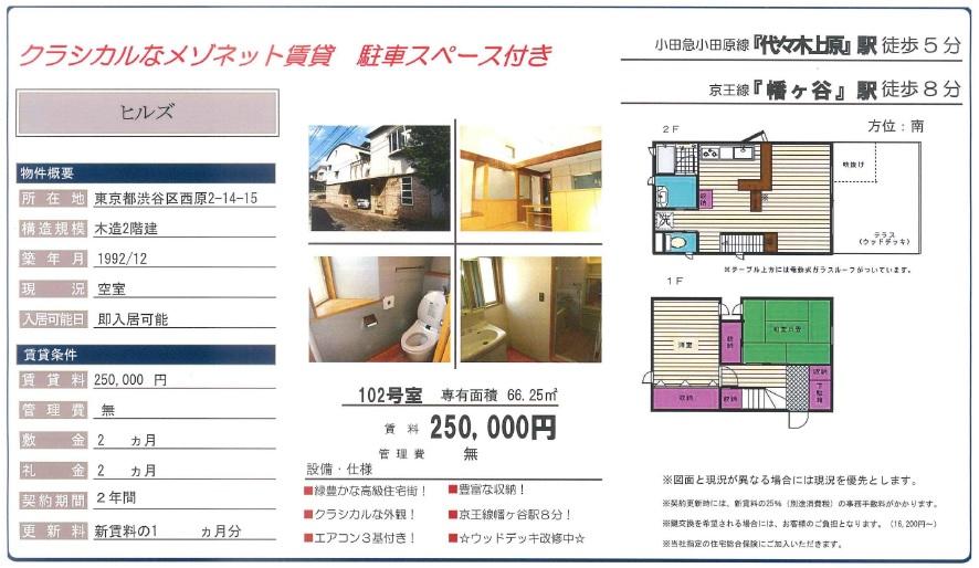 f:id:yoyogiuehararealestate:20161012090337j:plain