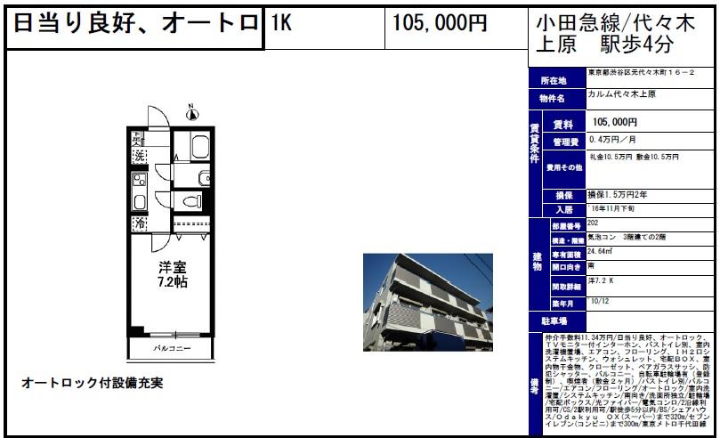 f:id:yoyogiuehararealestate:20161015094309j:plain