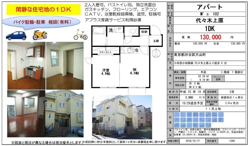 f:id:yoyogiuehararealestate:20161018204627j:plain