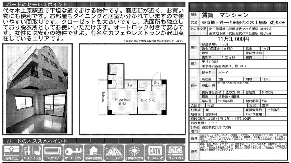 f:id:yoyogiuehararealestate:20161103100518j:plain