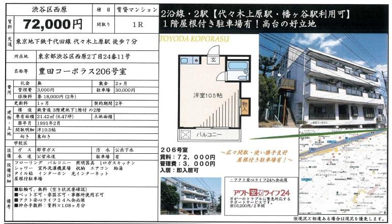 f:id:yoyogiuehararealestate:20161105222634j:plain