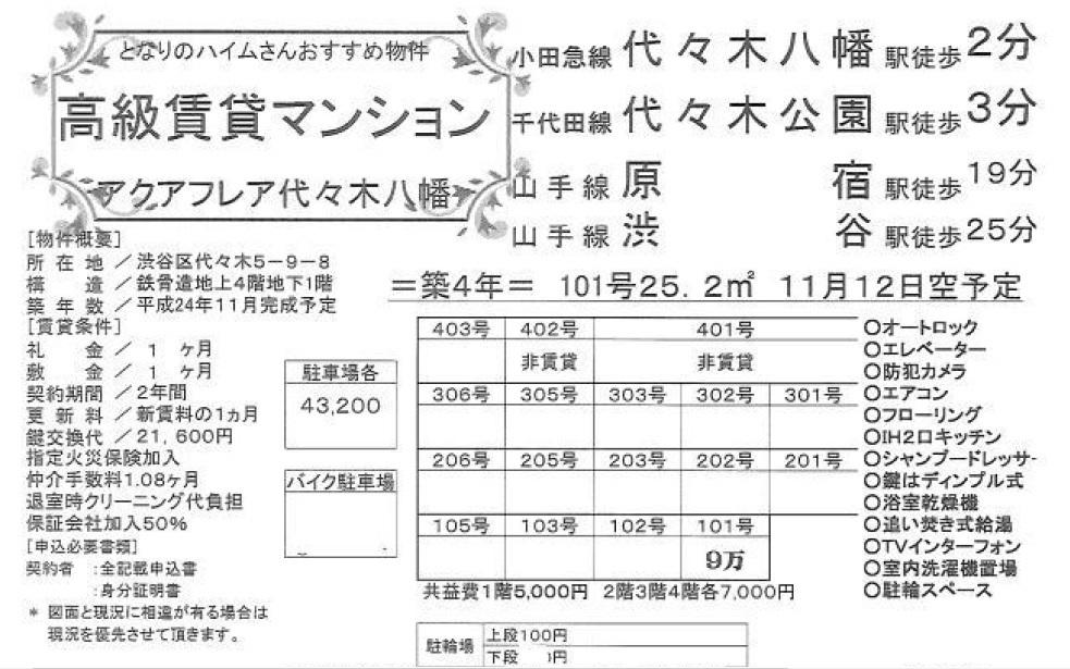 f:id:yoyogiuehararealestate:20161111161332j:plain