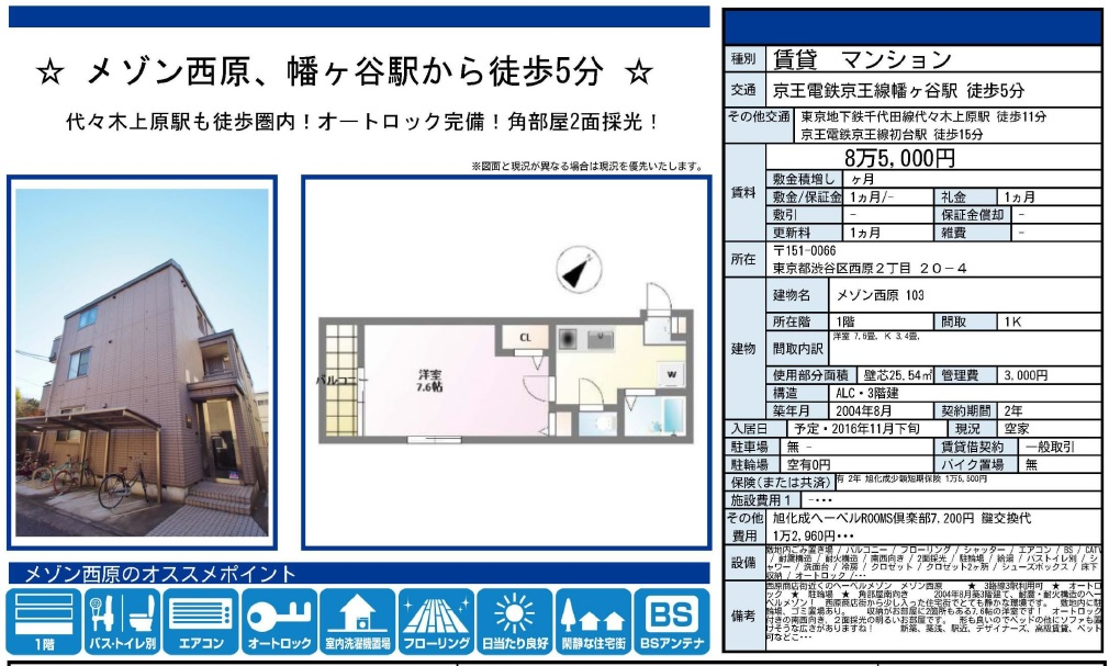 f:id:yoyogiuehararealestate:20161111161452j:plain