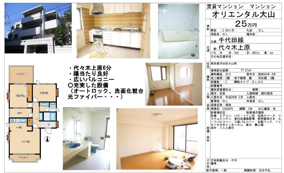f:id:yoyogiuehararealestate:20170204090850j:plain