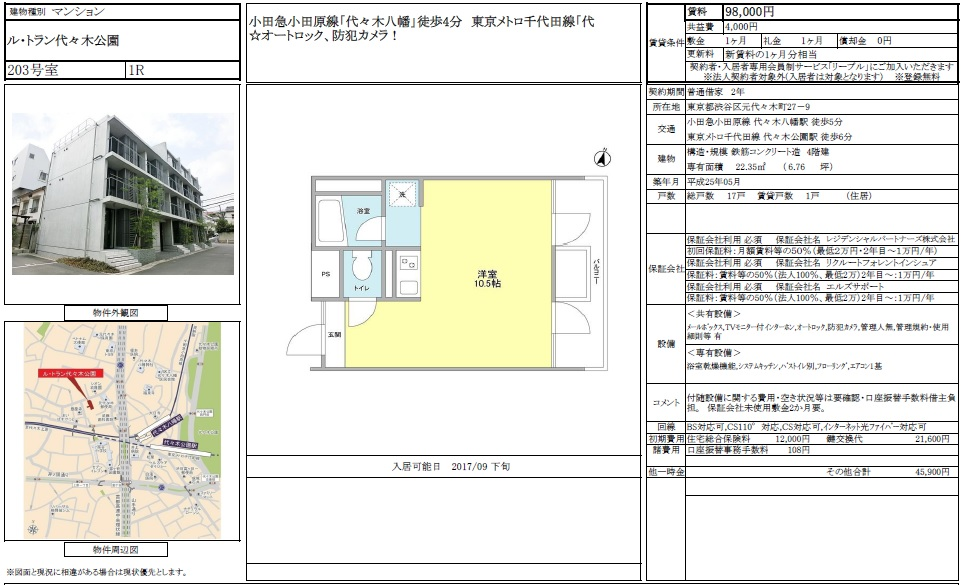 f:id:yoyogiuehararealestate:20170830105533j:plain