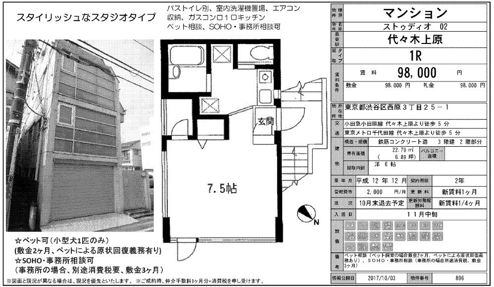 f:id:yoyogiuehararealestate:20171008102633j:plain