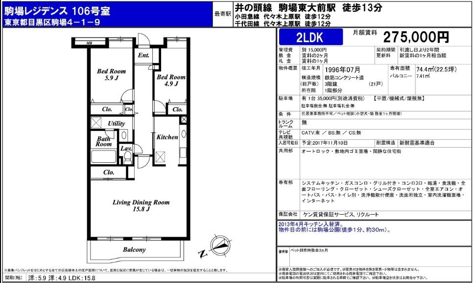 f:id:yoyogiuehararealestate:20171011110444j:plain