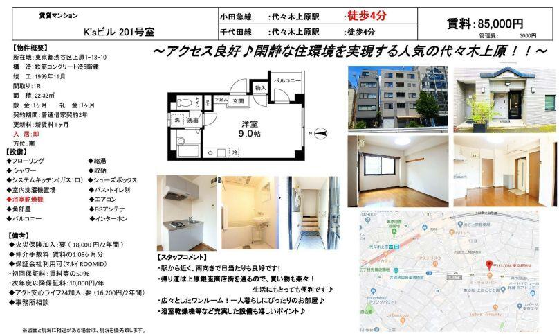 f:id:yoyogiuehararealestate:20190817103226j:plain