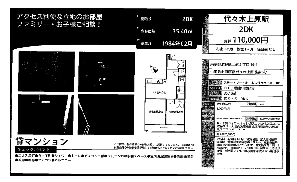 f:id:yoyogiuehararealestate:20200207110033p:plain
