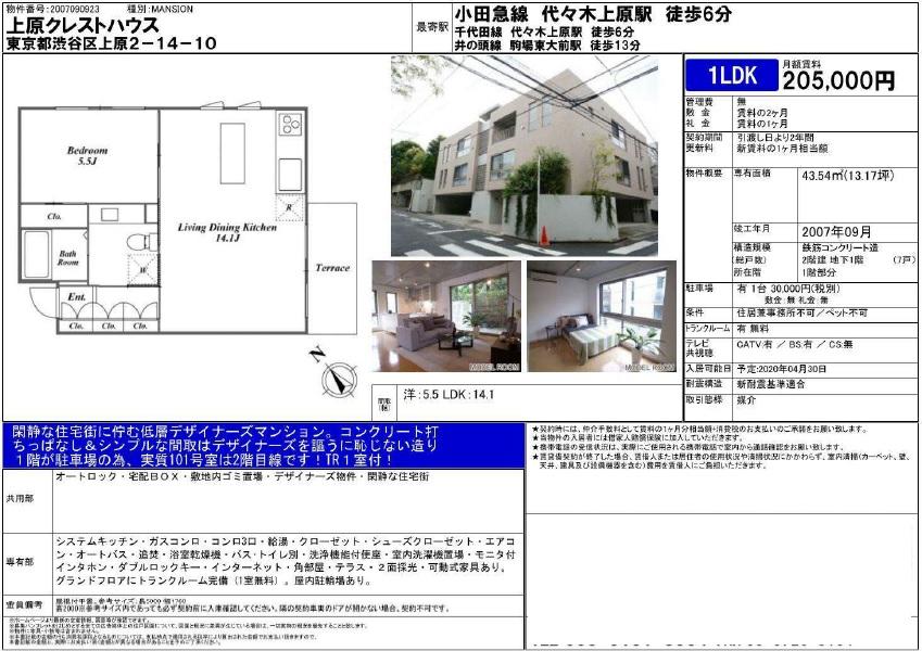 f:id:yoyogiuehararealestate:20200221123946j:plain