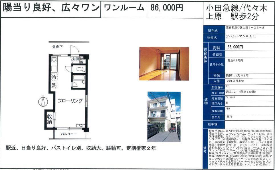 f:id:yoyogiuehararealestate:20200901104115j:plain