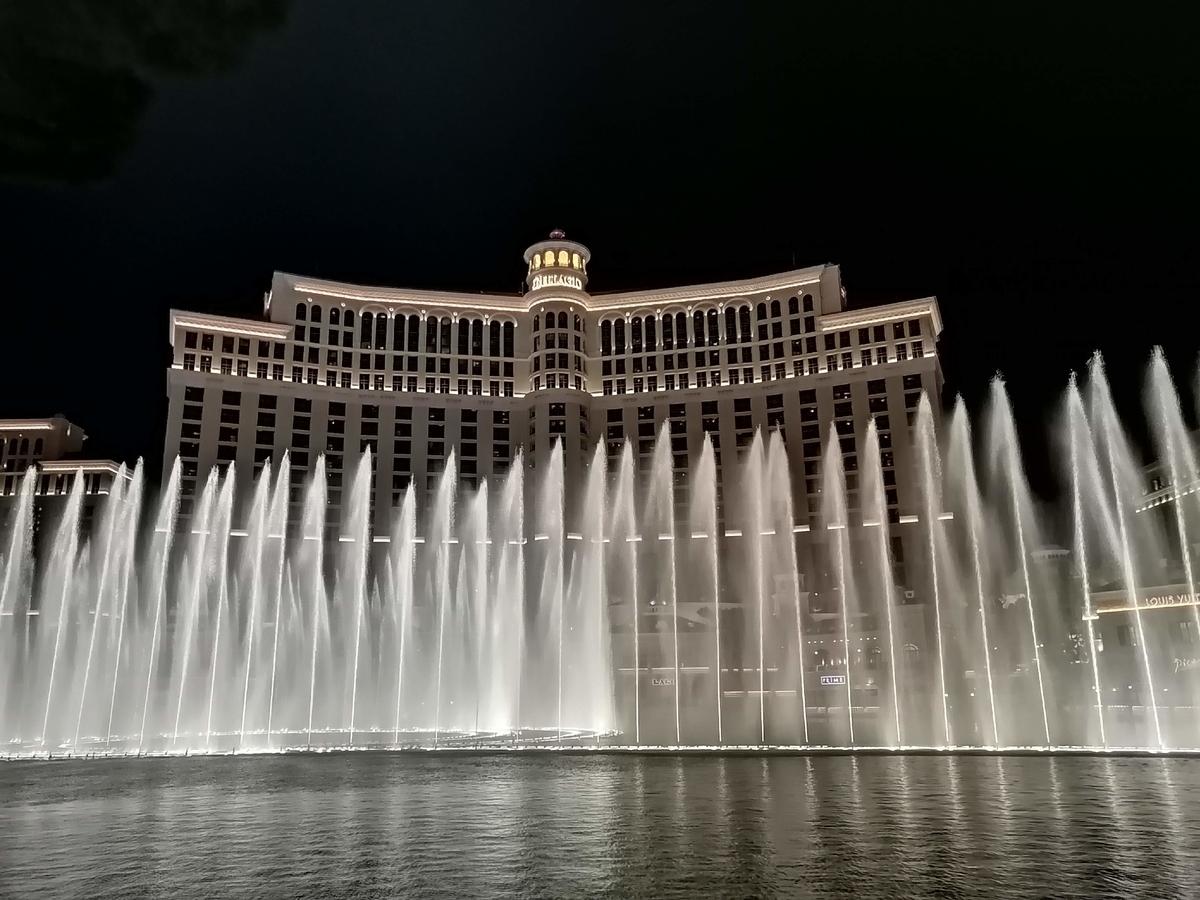 ベラージオホテルの噴水ショーの写真