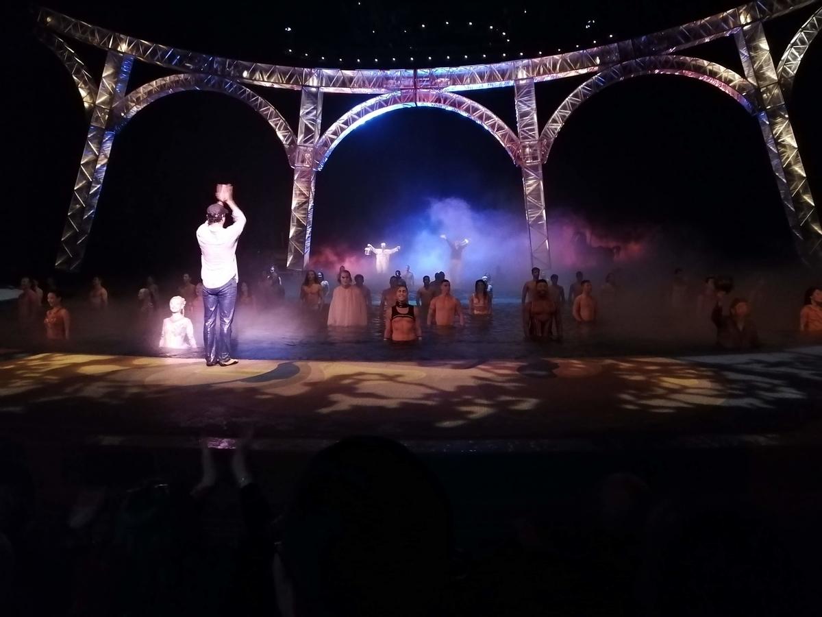 シルクドソレイユ、ショー終了時の写真