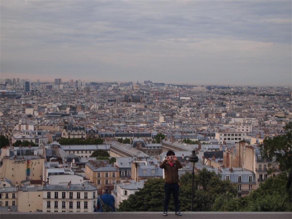 モンマルトルからの眺望と僕