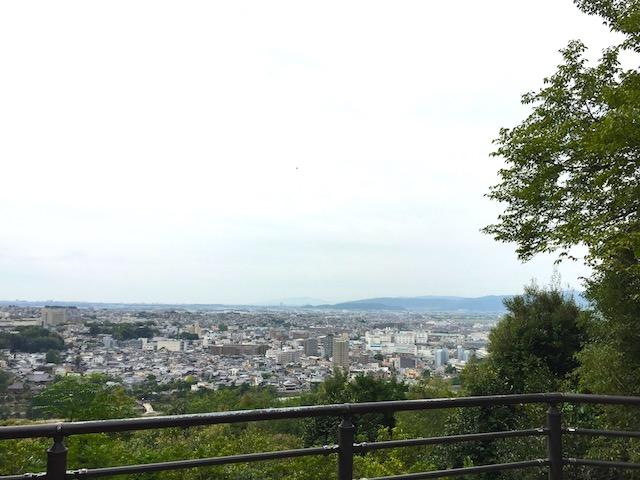 頂上展望台からの眺め
