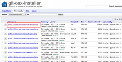 Downloads - git-osx-installer - Install Git on Mac OS X. Build tools not required. - Google Project Hosting