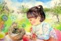 小春月(B4 ペン・水彩・色鉛筆)  …陰暦10月の異名