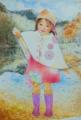 雪待ち月 (B4 ペン・水彩・色鉛筆) …陰暦11月の異名