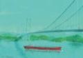 水辺・向側1 (パステル・色鉛筆)