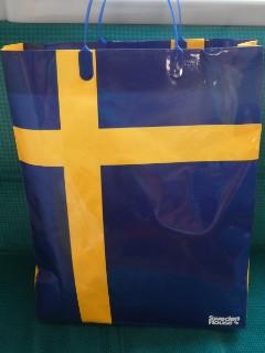 スウェーデン国旗紙袋写真