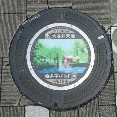 大谷弁天池マンホール写真