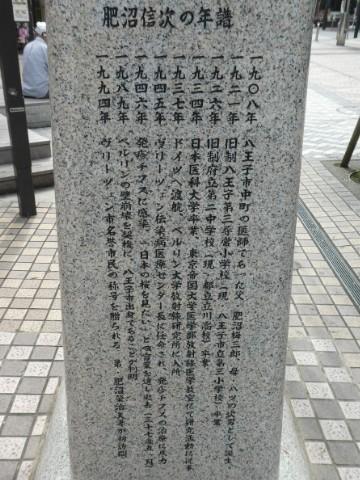 肥沼信次博士記念碑写真