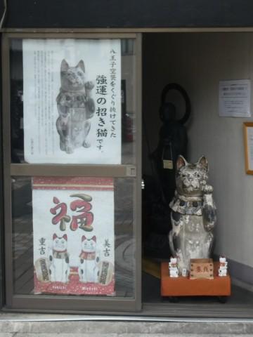 八王子空襲を乗り越えた招き猫写真
