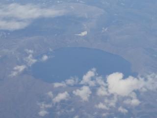 倶多楽湖空撮