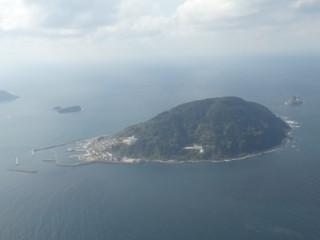 玄海島空撮写真