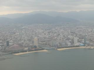 福岡ヤフオク!ドーム・福岡タワー空撮写真