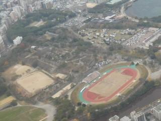 鶴舞公園空撮写真