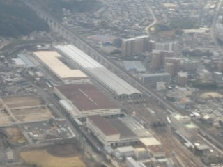 JR西日本博多総合車両所空撮写真
