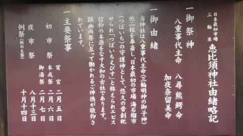 恵比須神社由緒略記写真