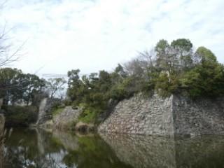 郡山城跡石垣写真